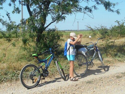 Велопробег.Ахтари-Маяк-Бородинская-Морозовский-Ахтари. 2017-08-09