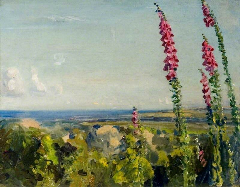 A Landscape with Foxgloves in the Foreground