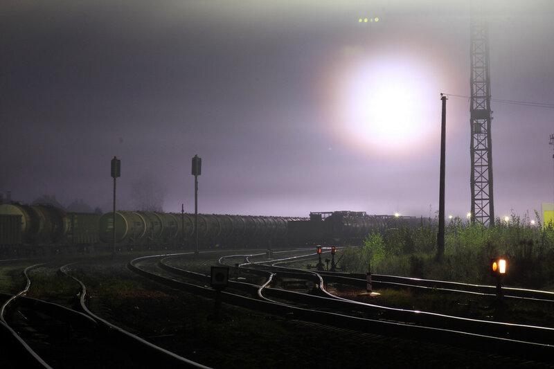 Ручные стрелки на станции Новосокольники, себежский парк, вид на Себеж