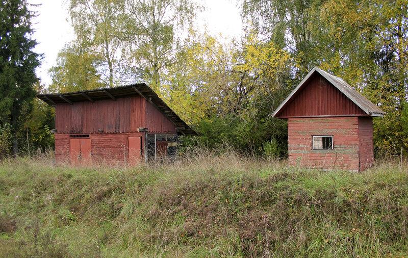 Деревянные сооружения у платформы 358 км Ивановские казармы перегоне Весьегонск - Овинище-2
