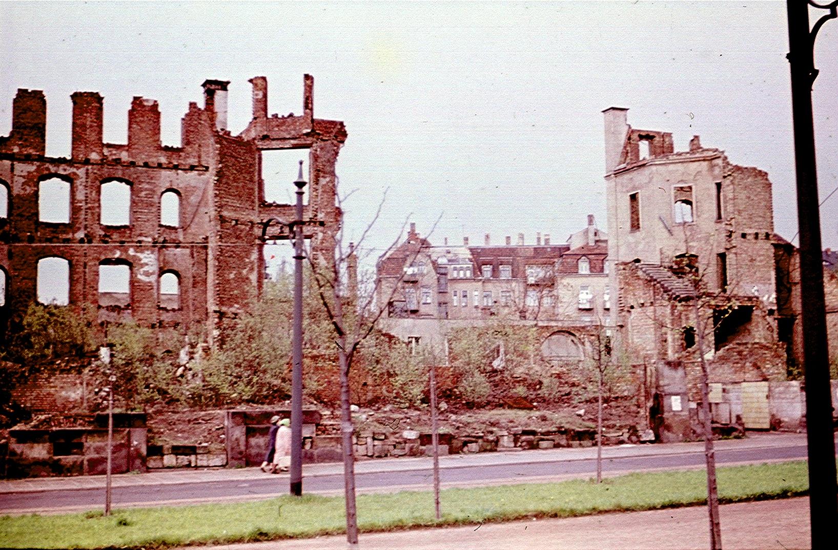 Дрезден. Руины