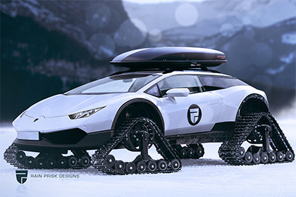 Lamborghini Huracan стал снегоходом