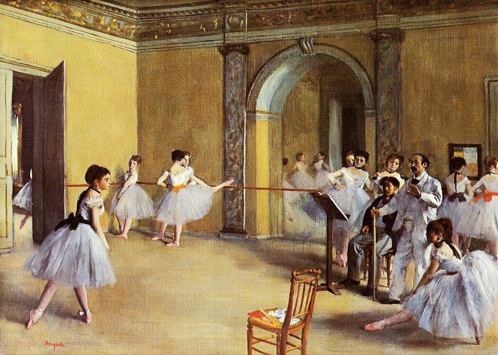 195_Танцевальный класс в опере (1872) (Париж, музей Орсэ).jpg
