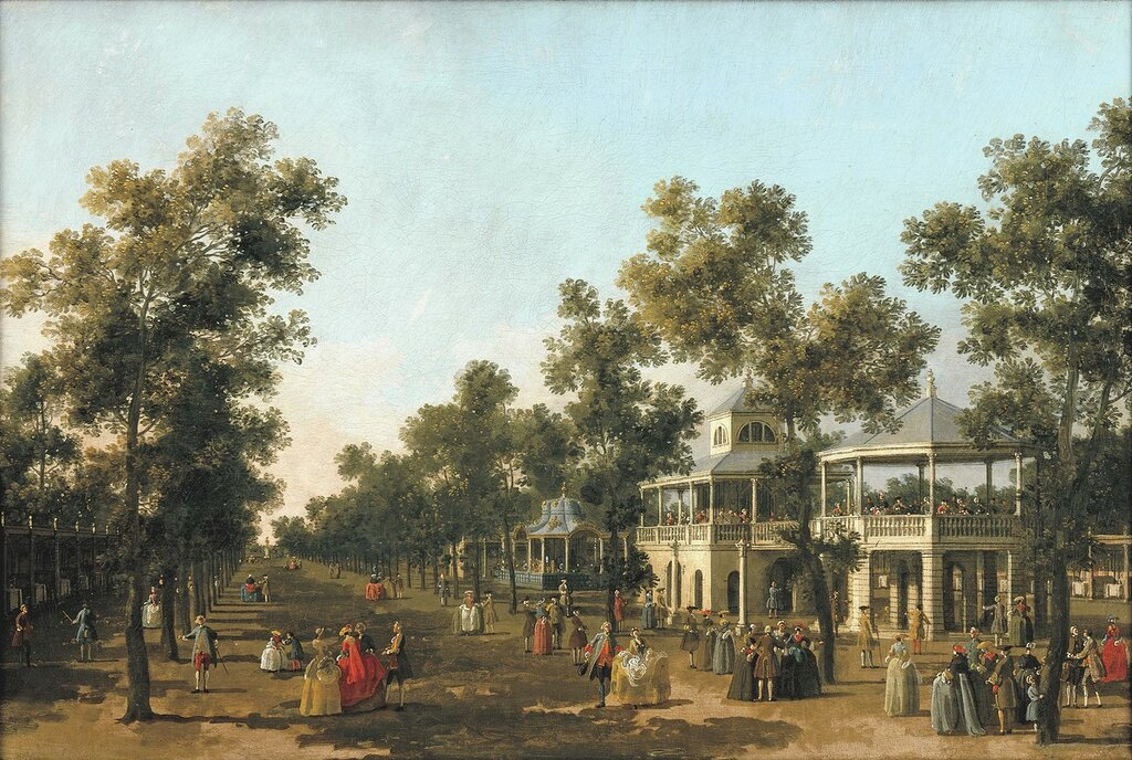 The Grand Walk, Vauxhall Gardens, c.1751 (oil on canvas)