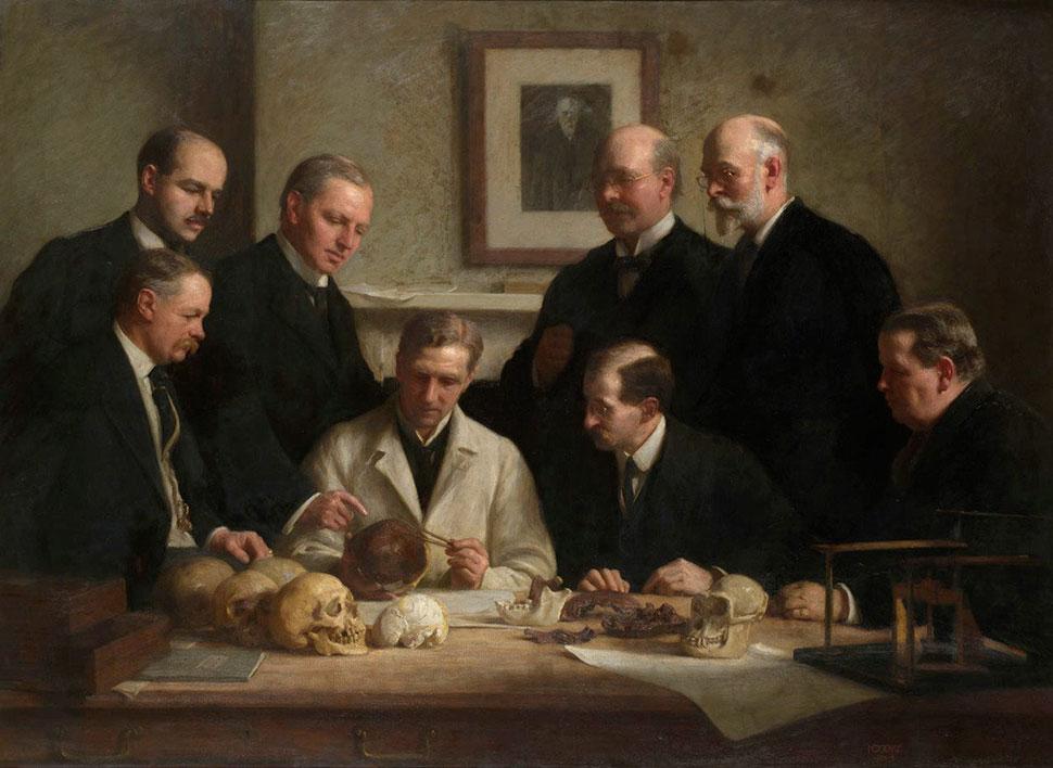 Пилтдаунский человек, 1912 В гравийном карьере Пилтдауна в Англии обнаружили фрагменты черепа и челю