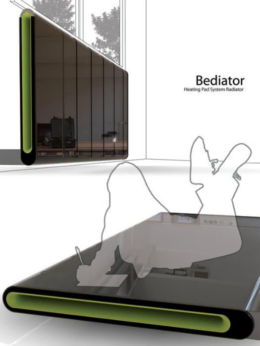 Обогреватель-кровать Bediator. Концепт кровати-обогревателя от дизайнера Yi Кunwoo, который представ