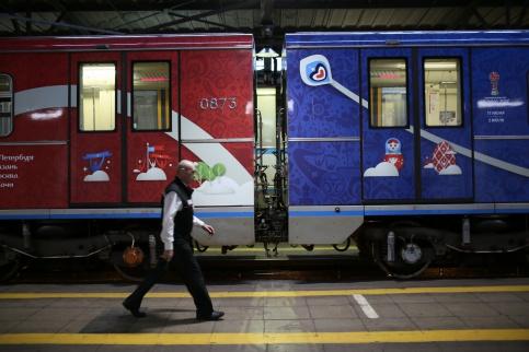Вмосковском метро запускают поезд, посвященный Кубку конфедераций