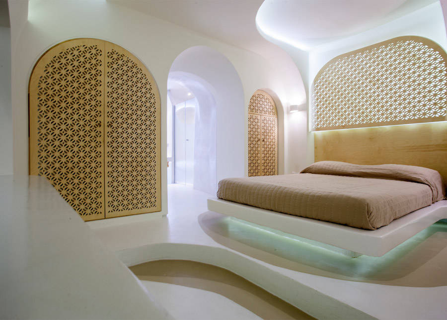 Smoothy & Curved Interior Design for a Hotel in Santorini