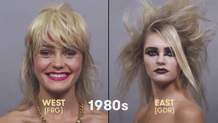 100 years of beauty in one minute – The evolution of style in Germany
