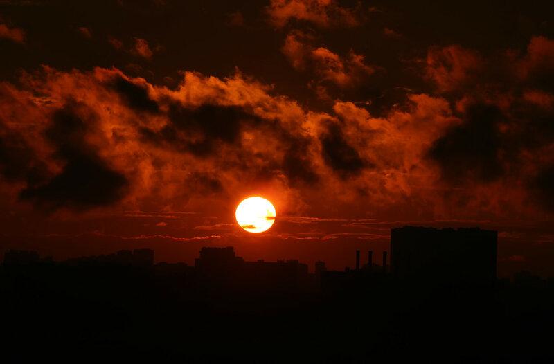Закат. Москва
