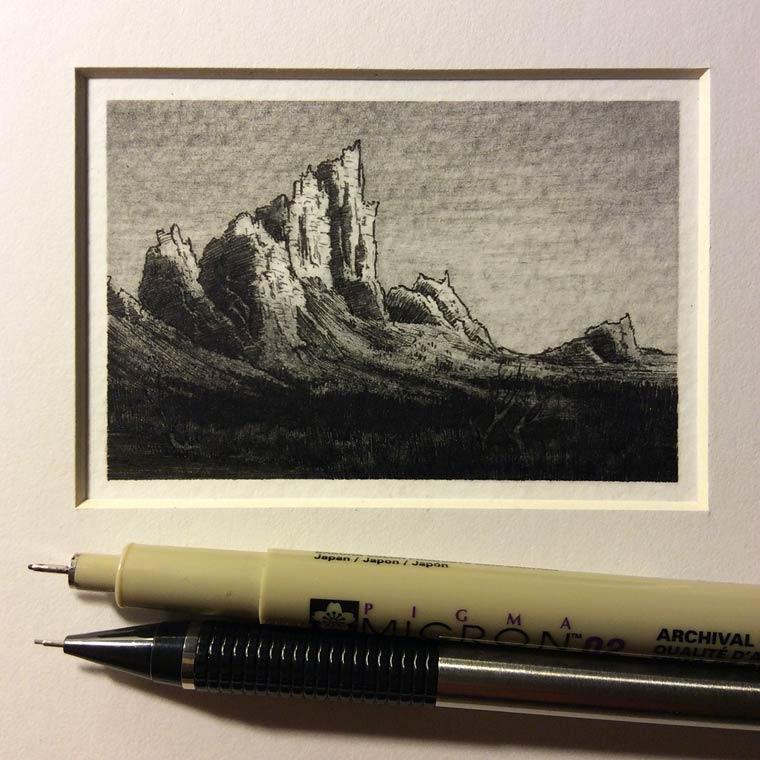 Les paysages miniatures de Taylor Mazer