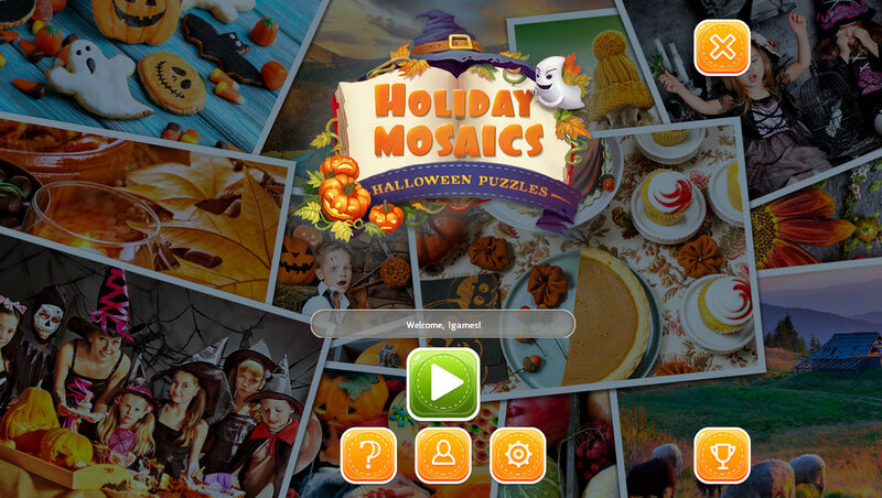 Holiday Mosaics: Halloween Puzzles