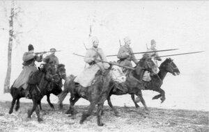 1915. Преследование казаками неприятеля