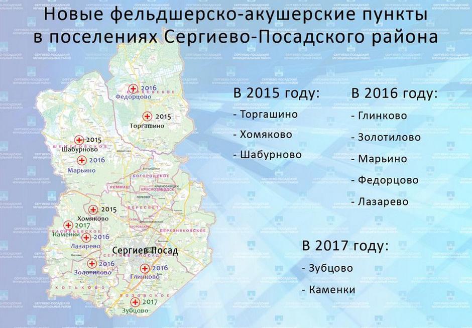 Десять ФАПов появится в поселениях  района до 2017 г.