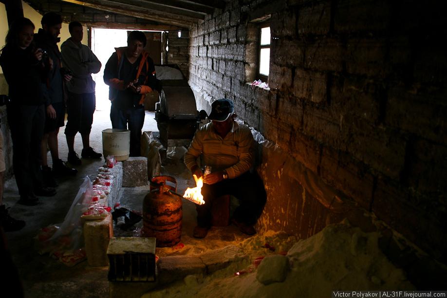 Соляная фабрика в Уюни