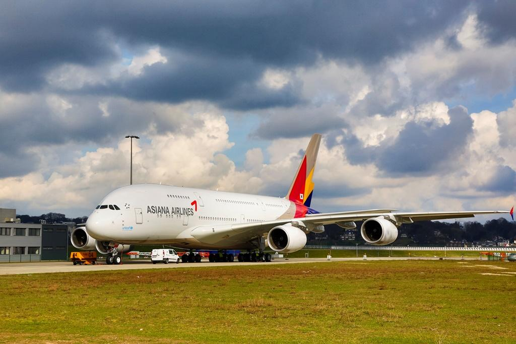 MSN 152 Asiana A380 Rollout Paint