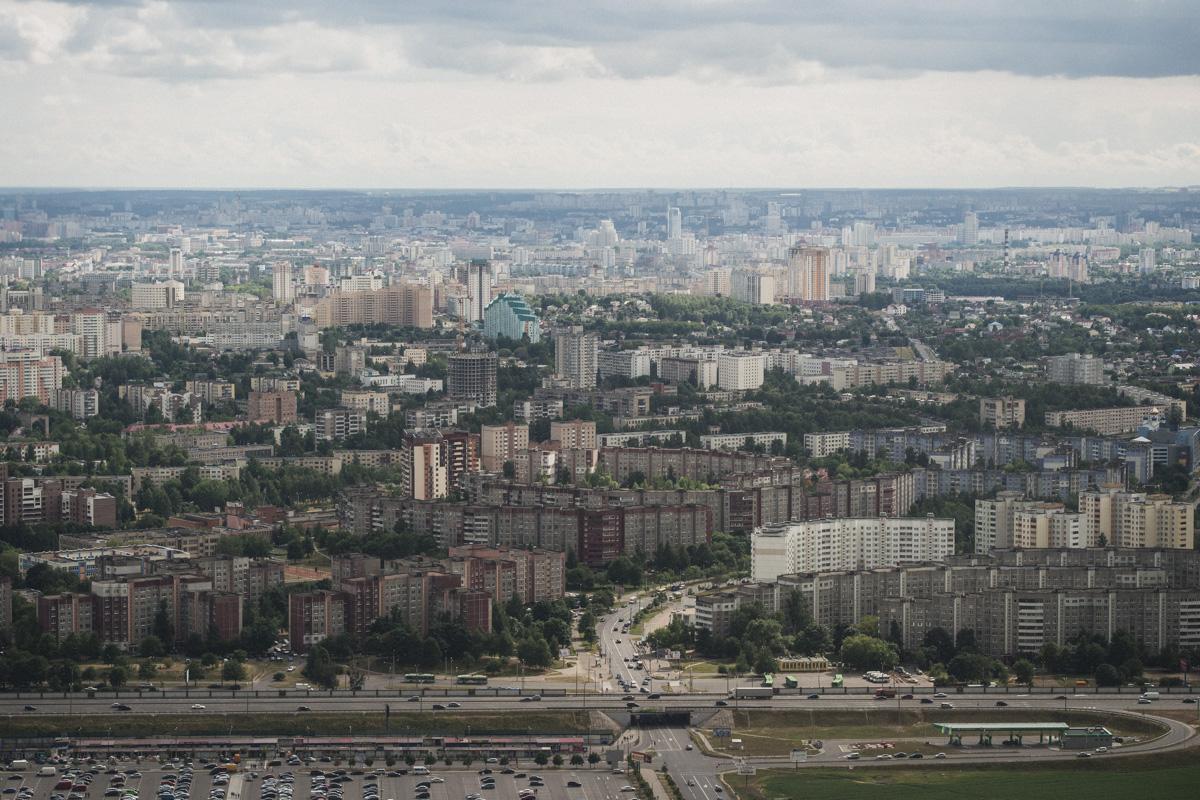 Минск прекрасен с высоты птичьего полета.