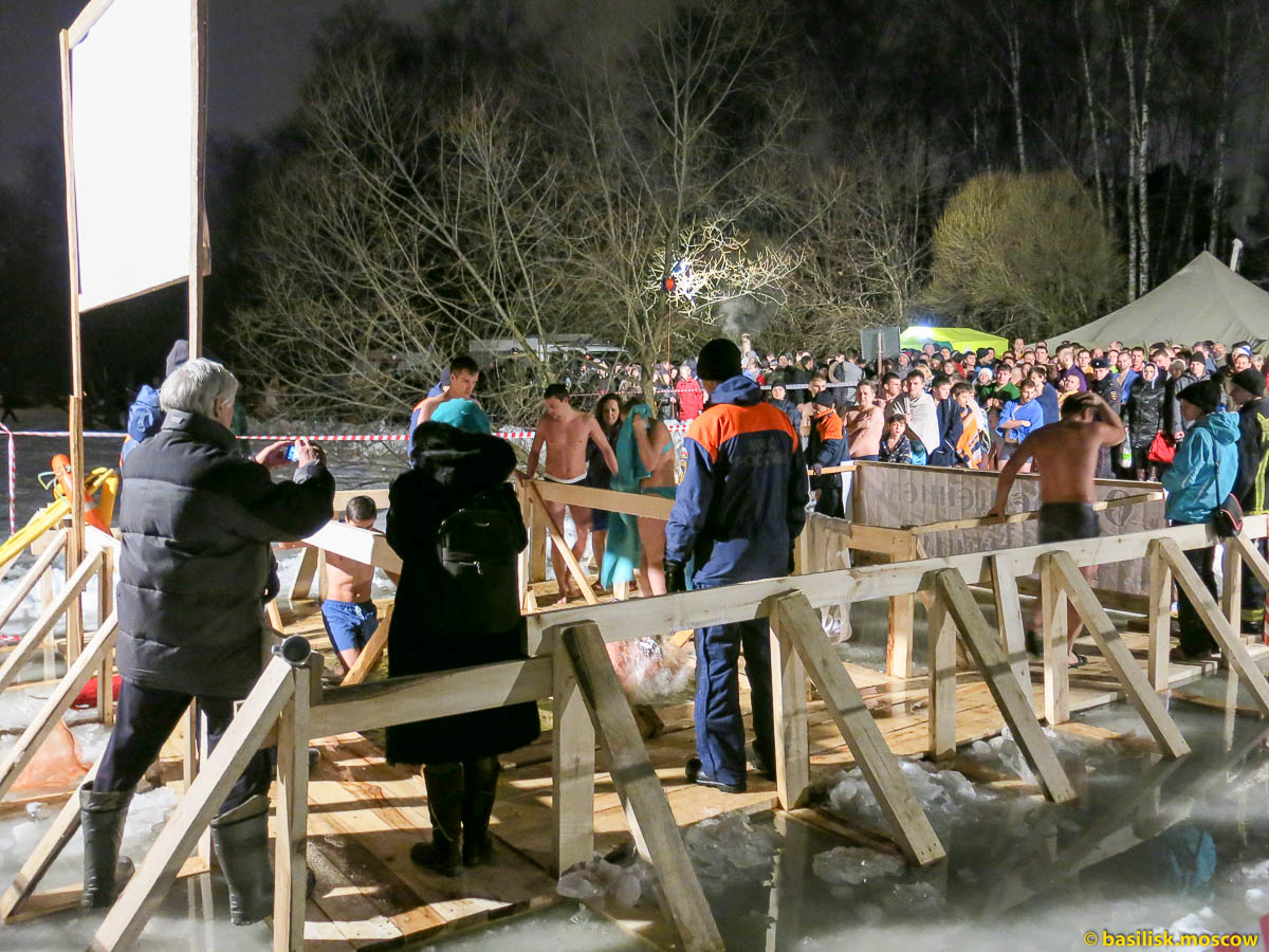Крещенские купания 19 января 2015.