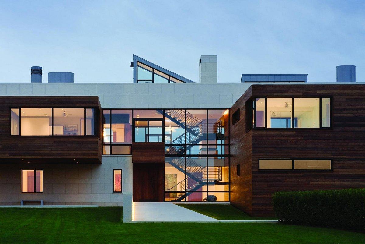 Southampton Beach House, Alexander Gorlin Architects, дом на берегу океана, роскошный особняк на берегу Атлантического океана, лучшие особняки США