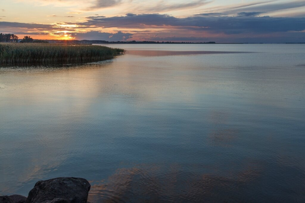 Закат, Псковское озеро