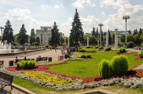 """Фонтан """"Дружба народов"""" на ВДНХ - самый большой фонтан Москвы !"""