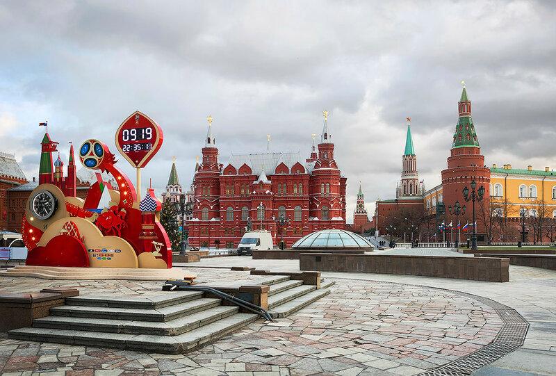 Москва. Манежная площадь перед Новым годом.