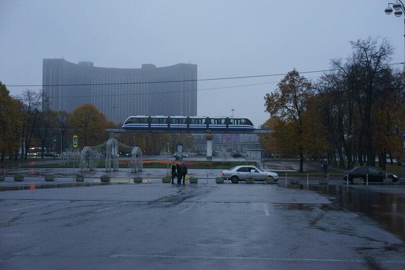 ВВЦ (ВДНХ), Москва, Россия: монорельс и гостиница Космос