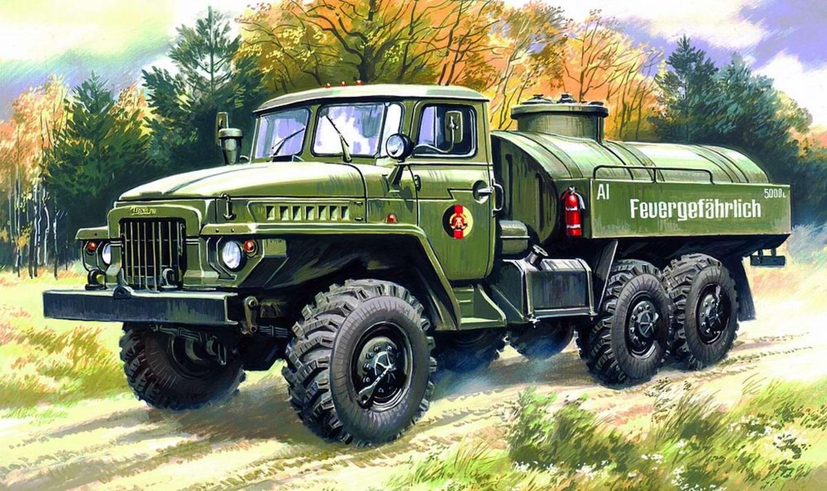 Топливозаправщик на базе грузового автомобиля Урал-375