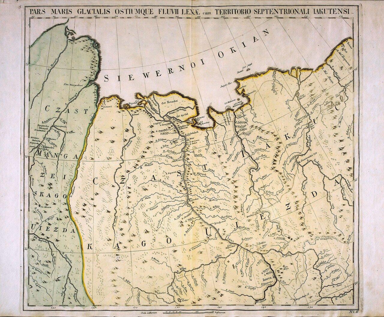 1745. Ледяные территории к северу от устья реки Лены