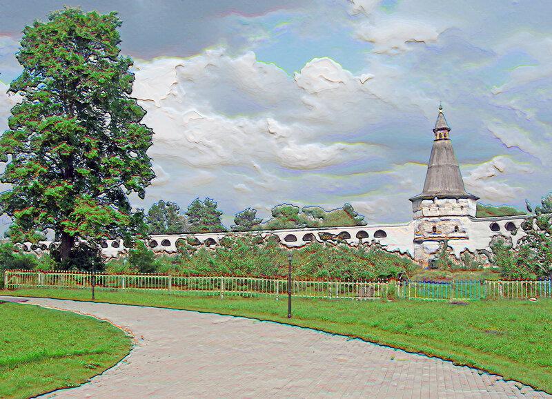 Монастырская стена рисунок, Иосифо-Волоцкий монастырь волоколамск россия москва крест православие церковь храм церковная служба фото фотки апарышев.