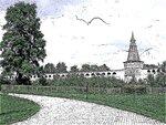 Монастырская стена, рисунок № 2