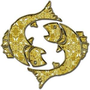 Рыбы - знак зодиака, рисунок, вариант № 1, Апарышев.