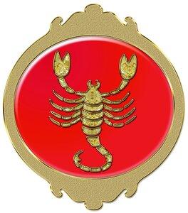 Скорпион - знак зодиака, рисунок, вариант № 2, Апарышев.