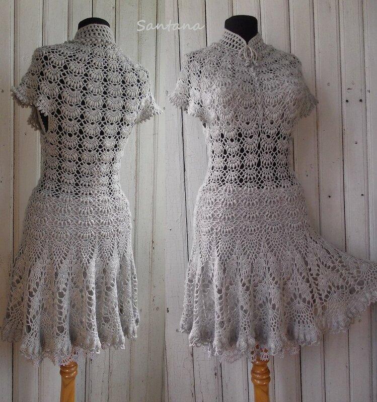 Серое платье. Коллаж 4