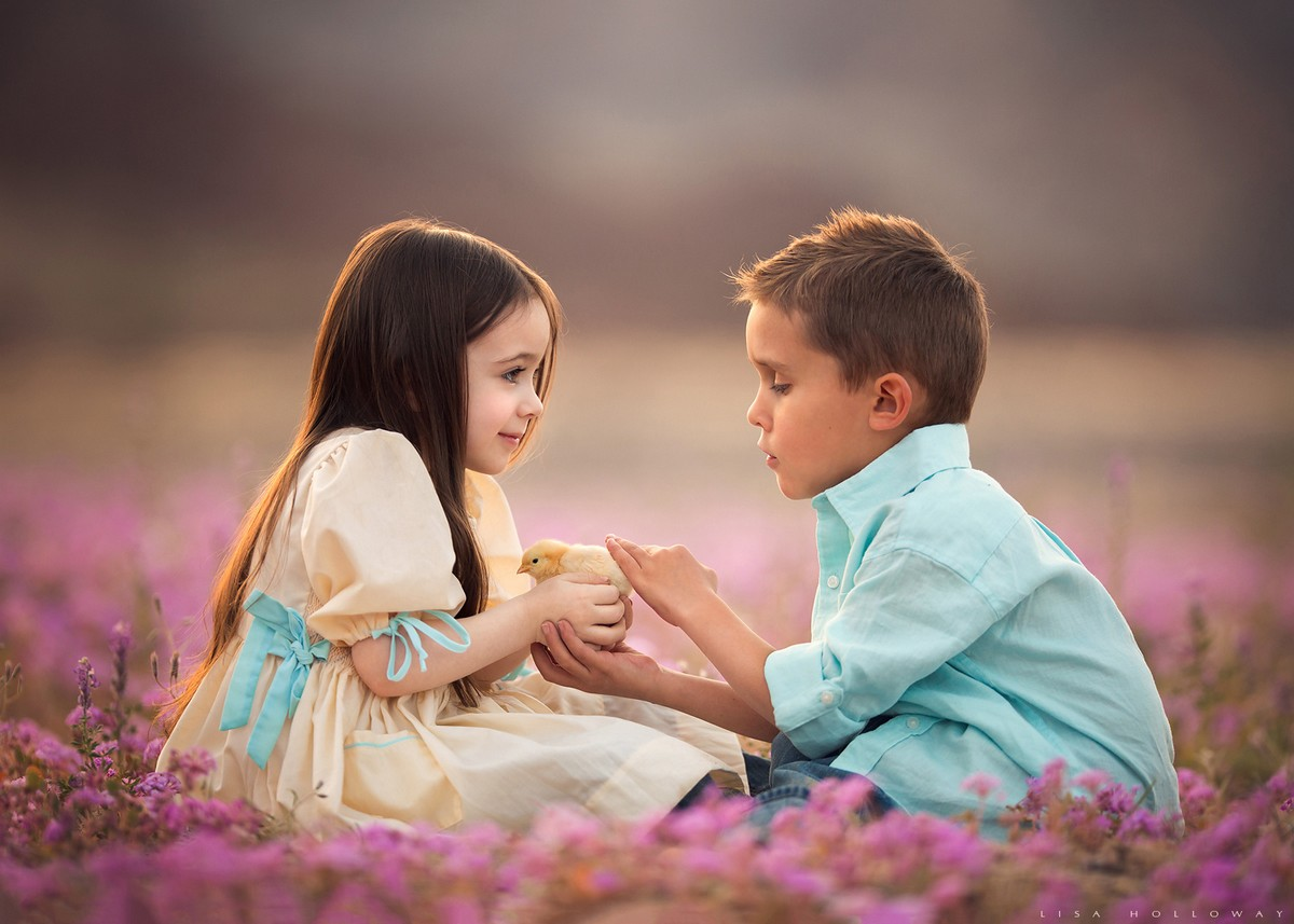 Трогательные снимки детей Лизы Холлоуэй