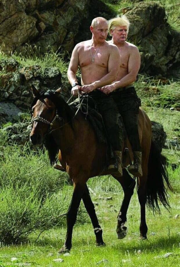 Как близнецы из одного яйца: Соцсети смеются над Путиным и Трампом