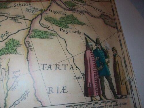 Старинная карта России