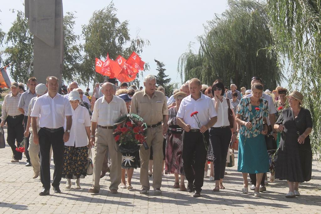 В память о жертвах массированной бомбардировки Сталинграда