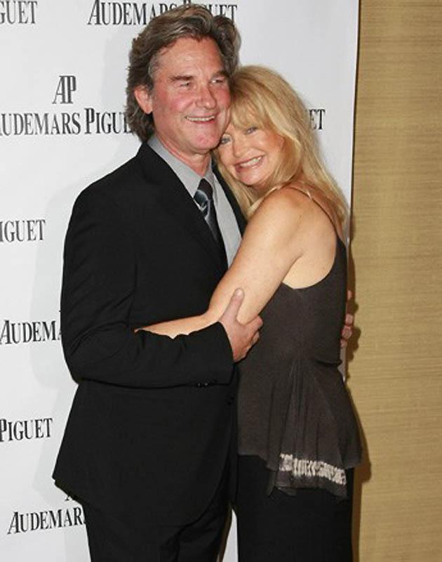 Голди Хоун и Курт Рассел. (Neilson Barnard / Getty Images for Audemars Piguet) Голди Хоун и Курт Рас