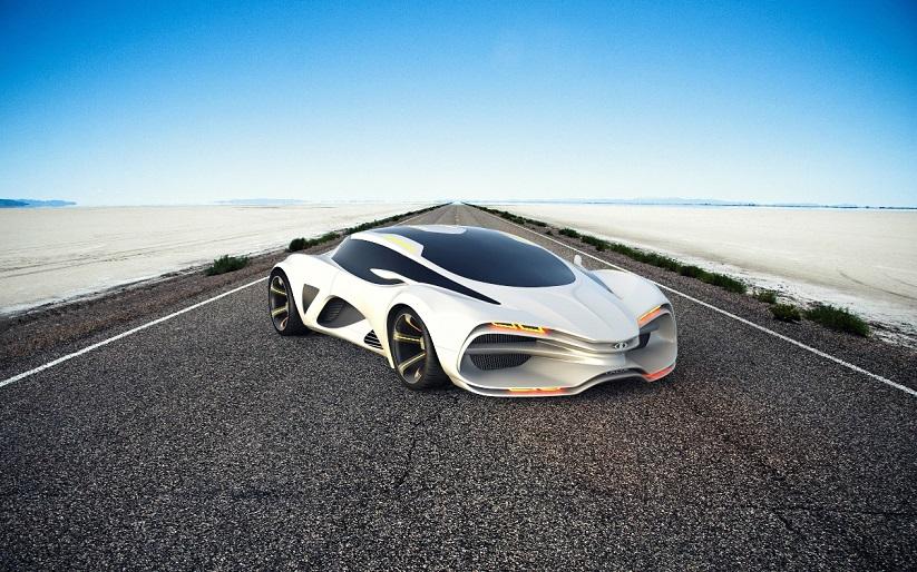 Главная особенность концепта суперкара Lada Raven — необычный дизайн в духе современных тенден