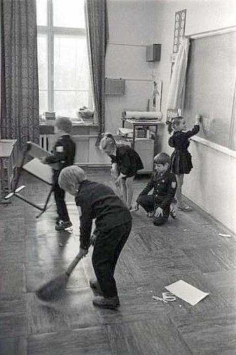 СССР, Москва, 1977 год.  Обеденный перерыв