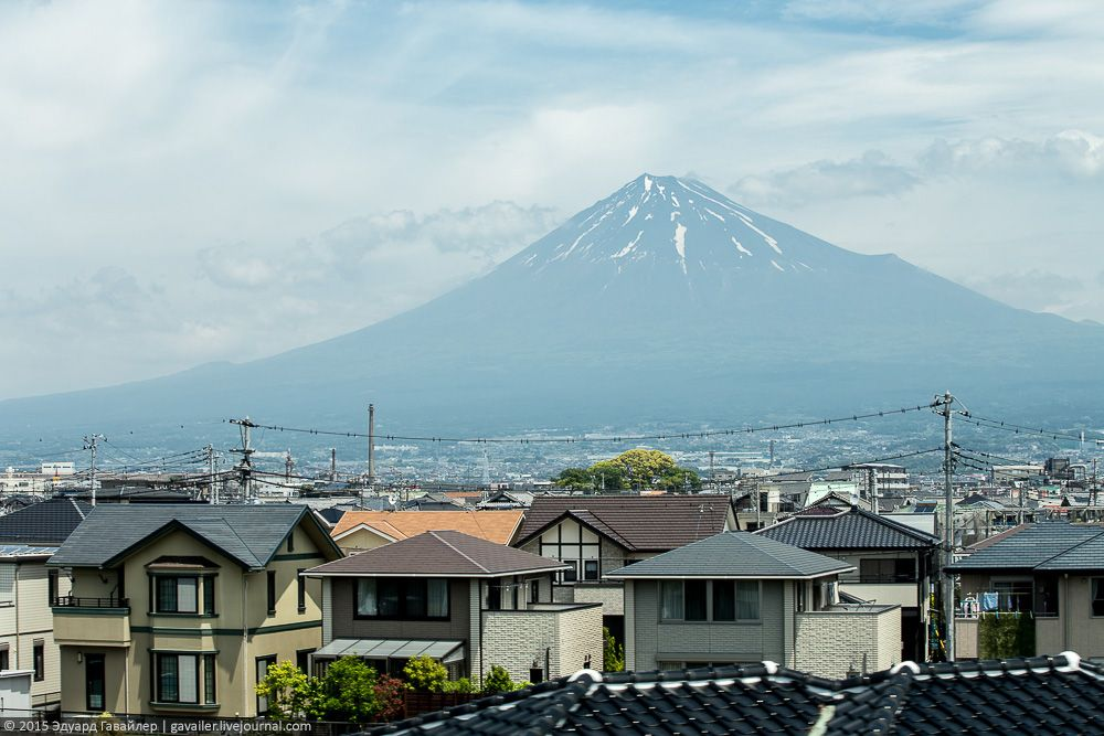 Одно из пяти озер у подножия вулкана – озеро Кавагути (Kawaguchi). Так называемый район пяти о