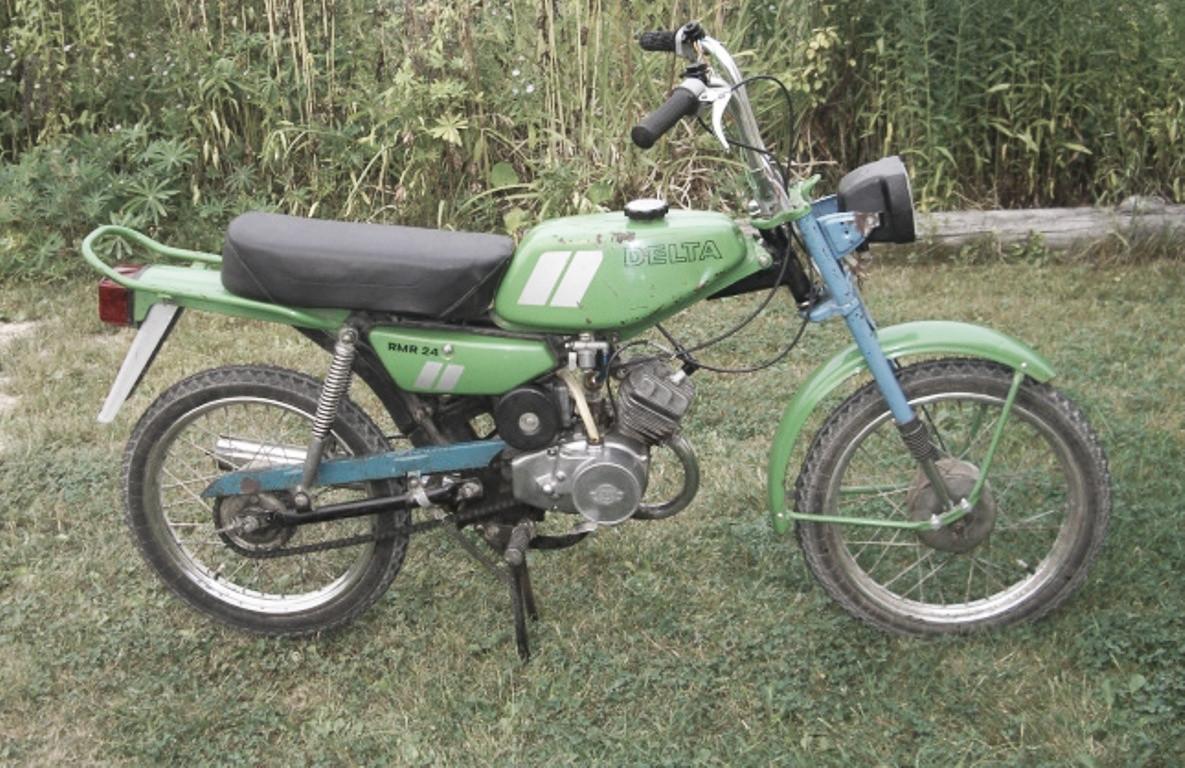 Мини мокик Рига 26 В 1982 году завод представил очень необычный мокик