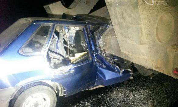 ВДТП своенным фургоном под Мариуполем погибла женщина (0)