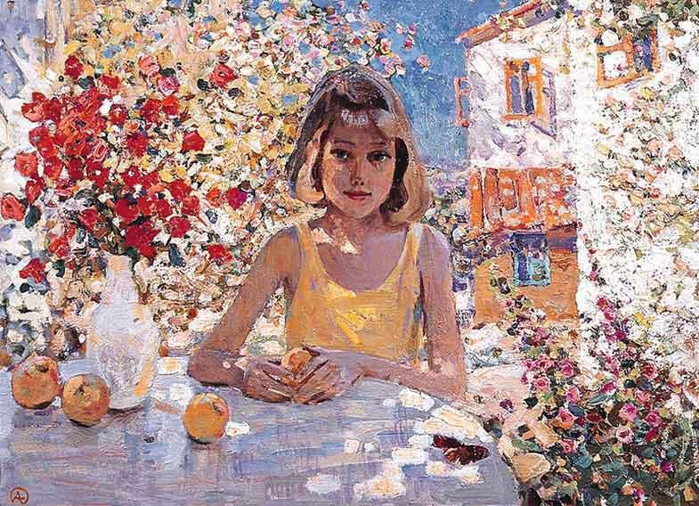 Alexander Tioutrine неизвестно Девочка и персики.jpg