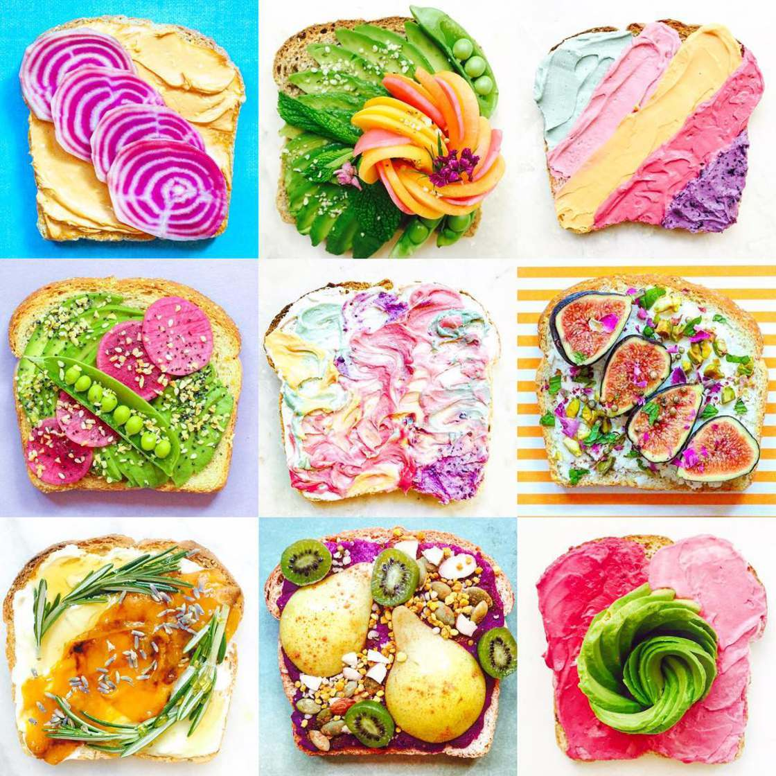 Unicorn Toast - Creating natural and ultra-colorful toasts
