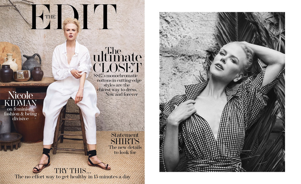 Nicole Kidman Stars in The Edit February 2017 Cover Story