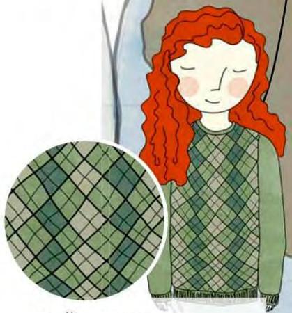 узоры для вязания аргайл (клетка-шотландка)