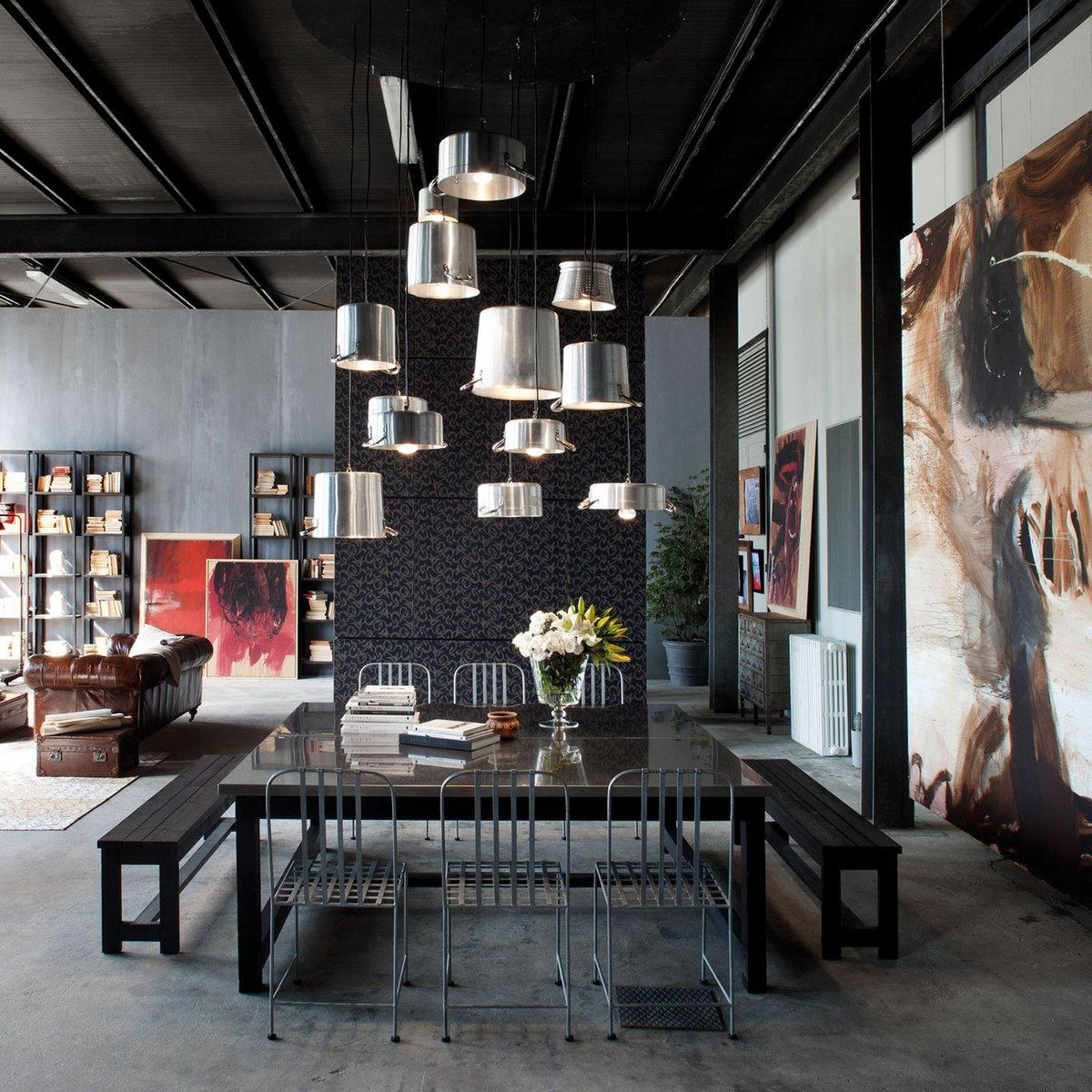 Silvio Stefani, Loft Minacciolo, лофт фото, лофт в Италии, лофт в Милане фото, полированный бетон в интерьере фото, дерево и металл в интерьере фото