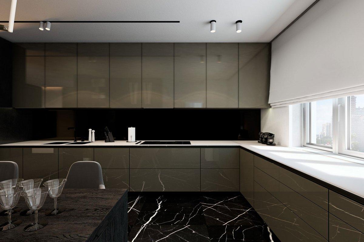 Роскошная кухня в квартире